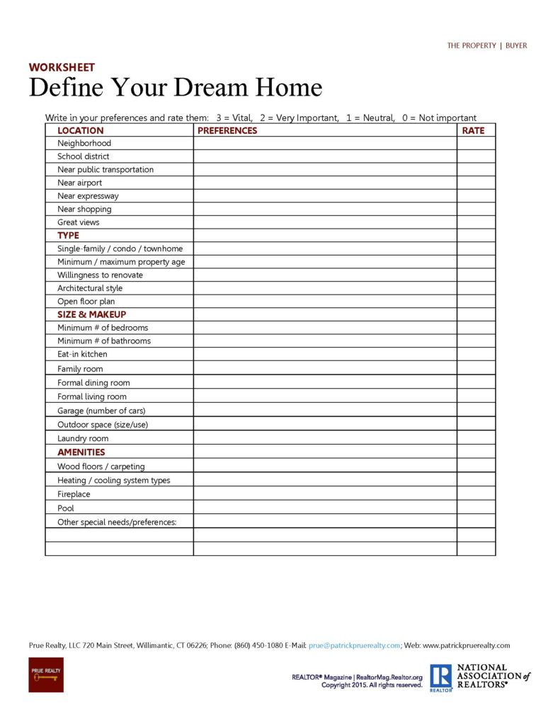 2 The Property - 1 Define Your Dream Home