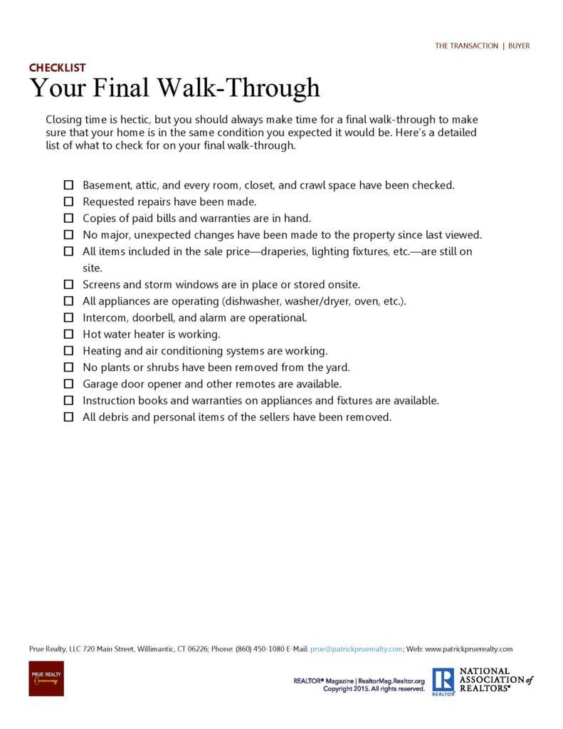 3 The Transaction 8 - The Final Walk Through 1
