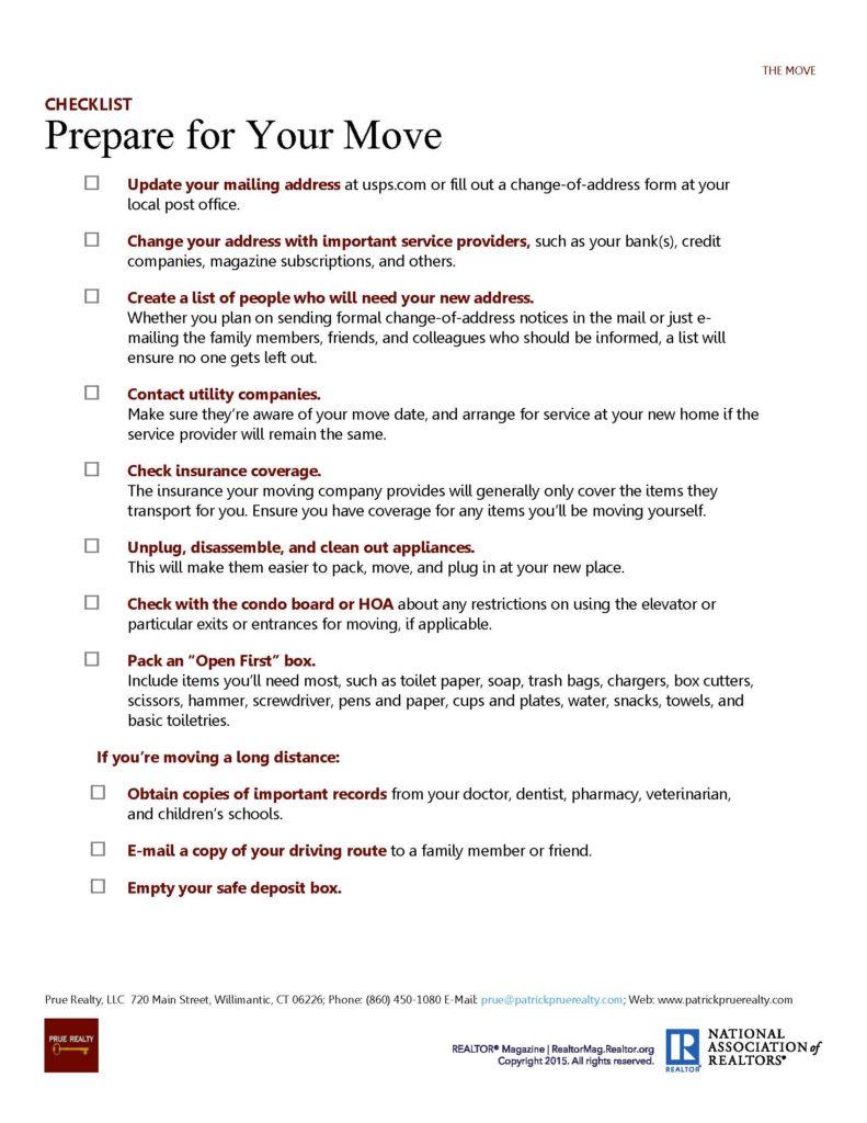 Prepare for Your Move